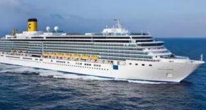 Luxury Cruise Costa Luminosa Is On Mumbai Port